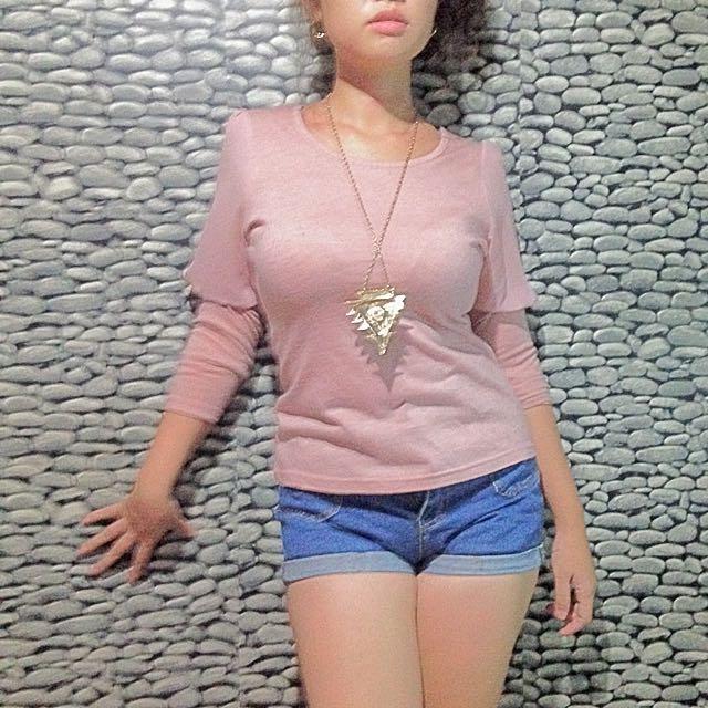 Nude Pink/pastel Pink top