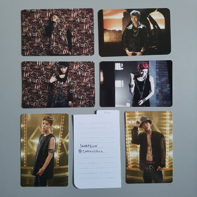 official b.a.p (zelo & yongguk) japanese photocards 💎 kpop 💎