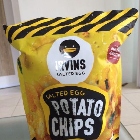 Original Potato Chips Salted Egg Irvins