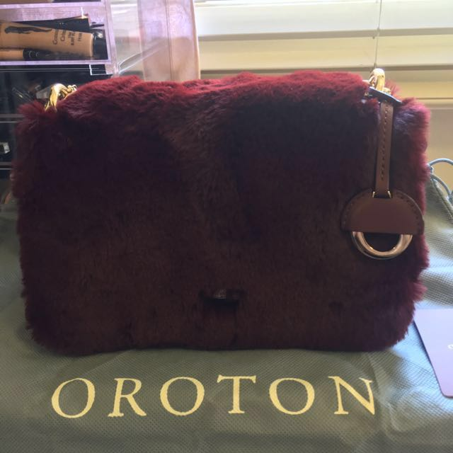 Oroton Forte Bag Faux Fur