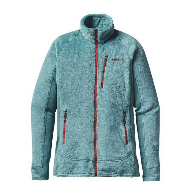 Patagonia R2湖水綠滾磚紅邊超輕量保暖外套