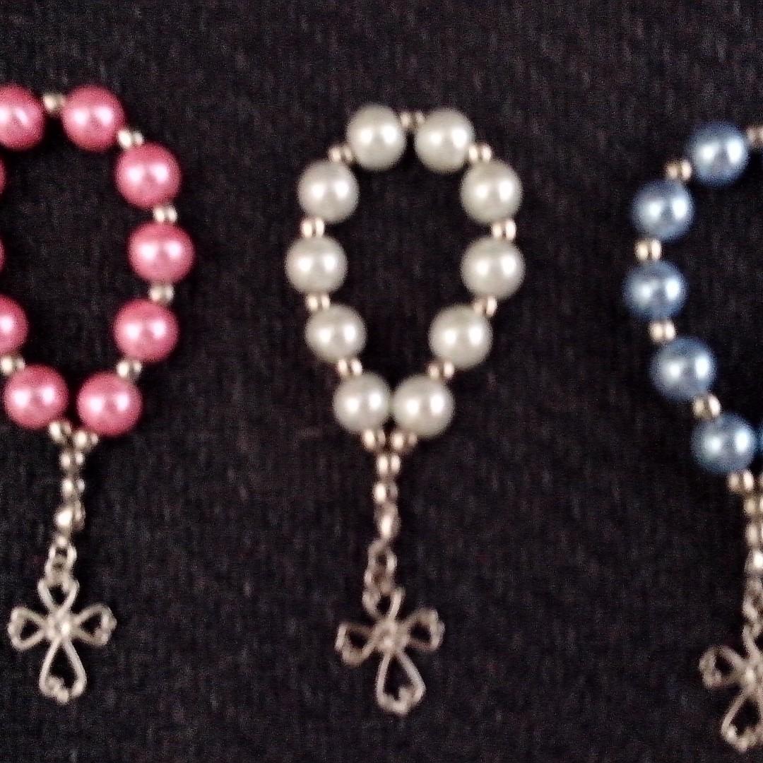Pearl Mini Rosary Souvenir Giveaways for wedding,baptismal,christening,birthday