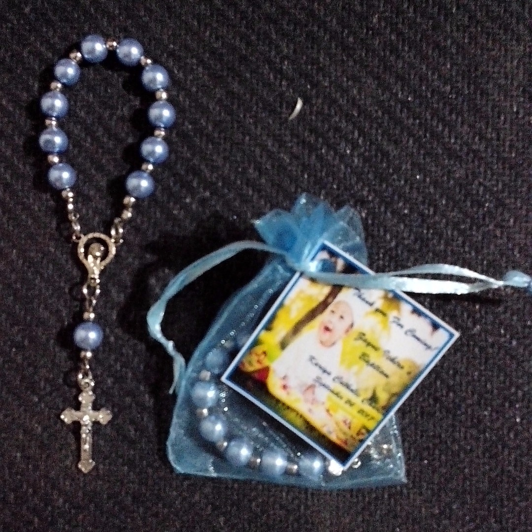 Pearl Pocket Rosary Souvenir and Giveaways for wedding,birthday,baptismal,christening