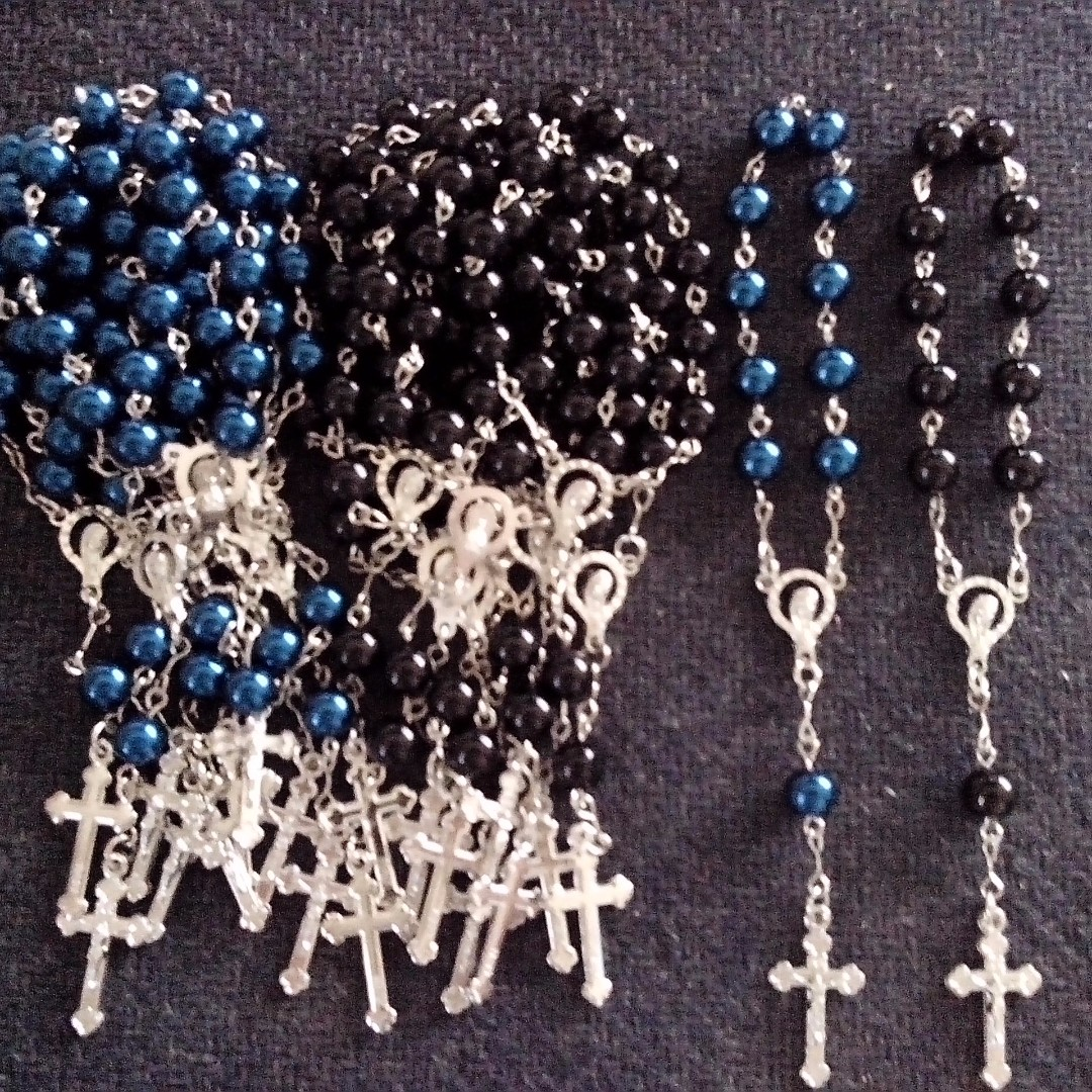 Pearl Pocket Rosary Souvenirs and Giveaways for wedding,baptismal,birthday,christening