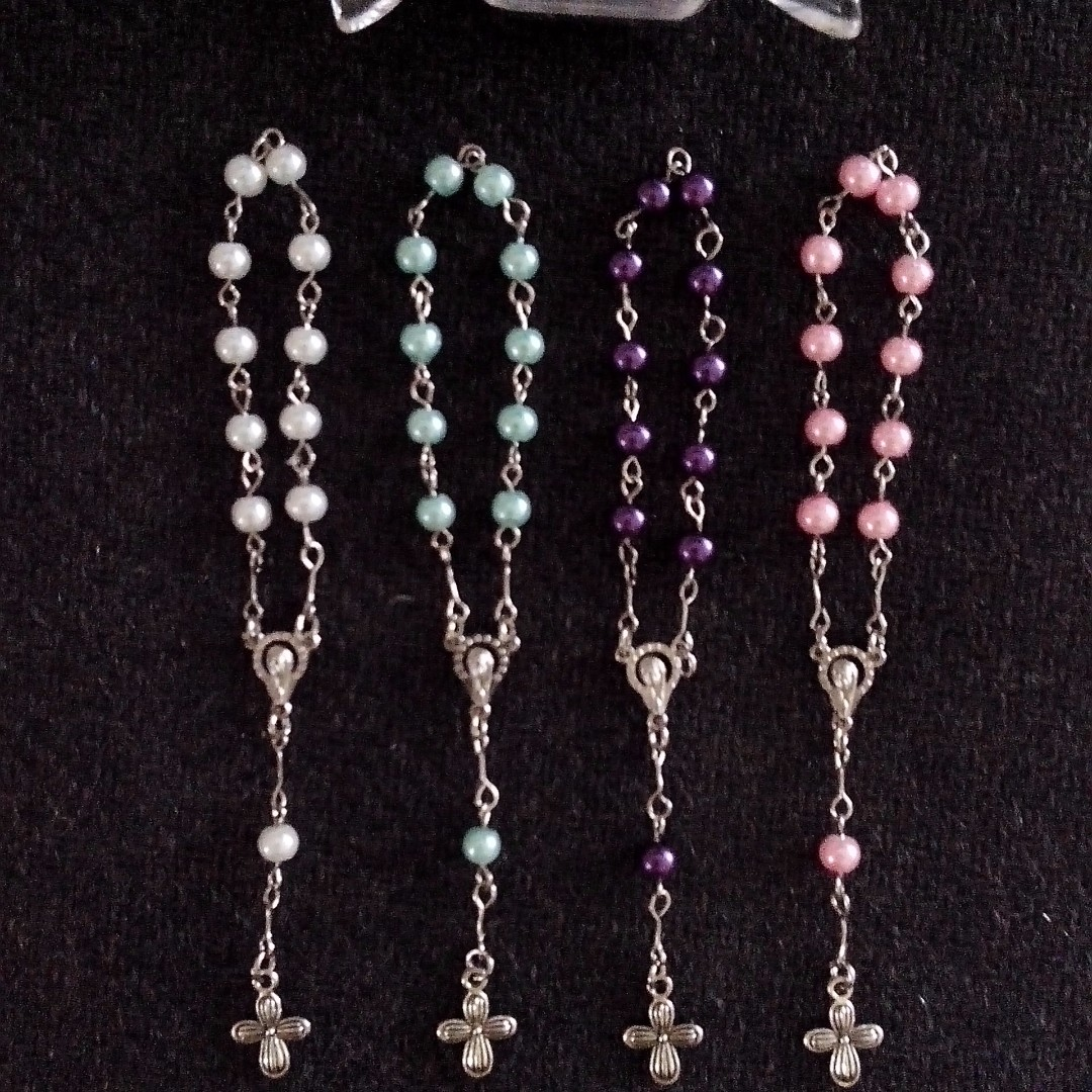 Pearl Pocket Rosary Souvenirs and Giveaways for wedding,baptismal,christening,birthday