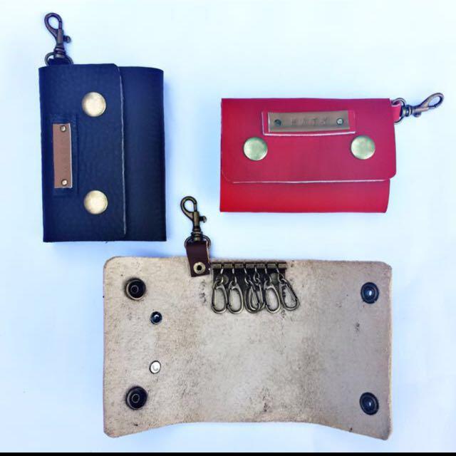 Personalized leather key holder