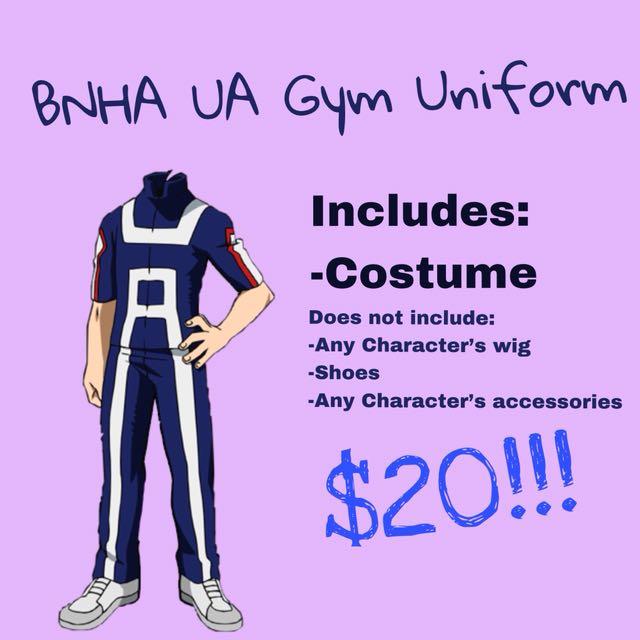 Cash Car Rentals >> [PRESALES] BNHA UA Gym Uniform Cosplay, Entertainment, J-pop on Carousell