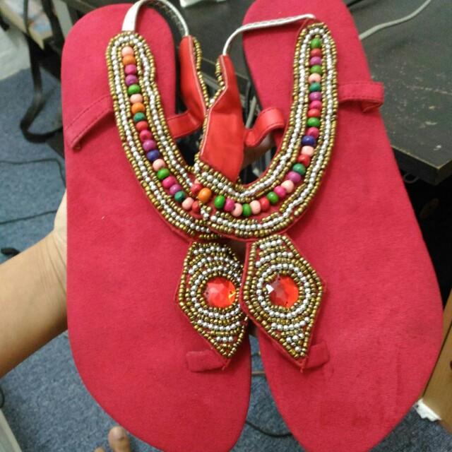 Red Sandals (Sendal Merah Manik)