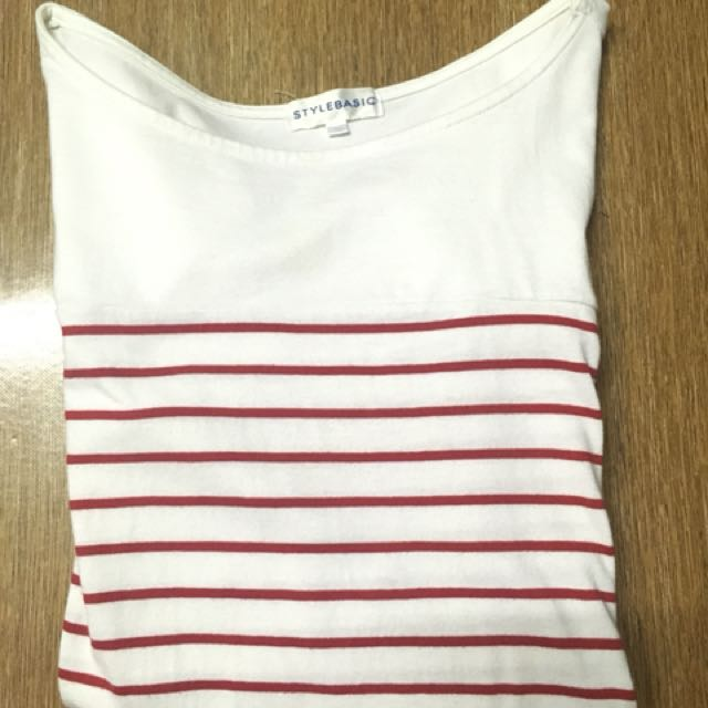 Red striped long sleeve
