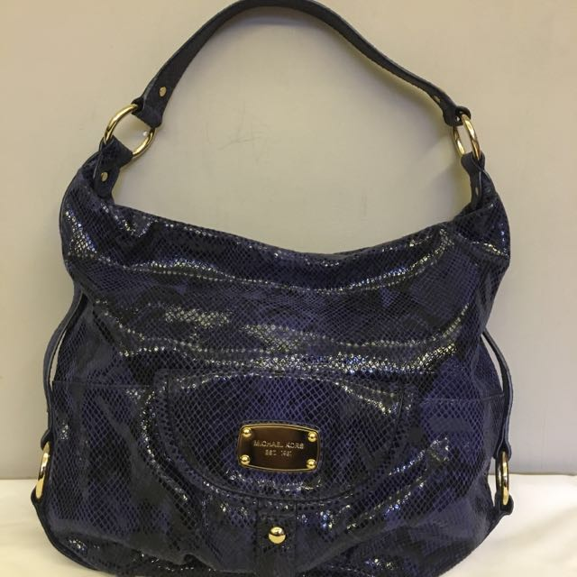 ❤️REPRICED further❤️Michael Kors Brimfied Hobo In Blue Python