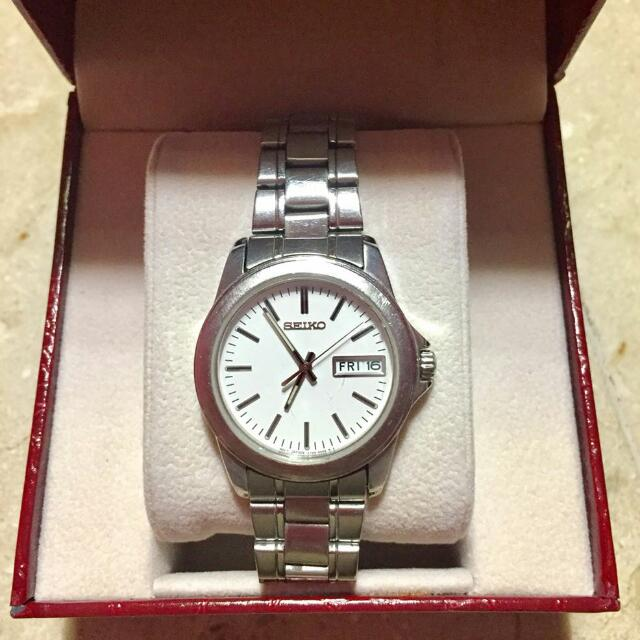 Silver Seiko Watch