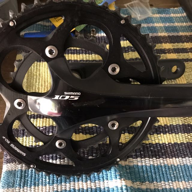 Shimano 105 5700 165mm Crankset 50 34 Chainrings Bicycles Pmds