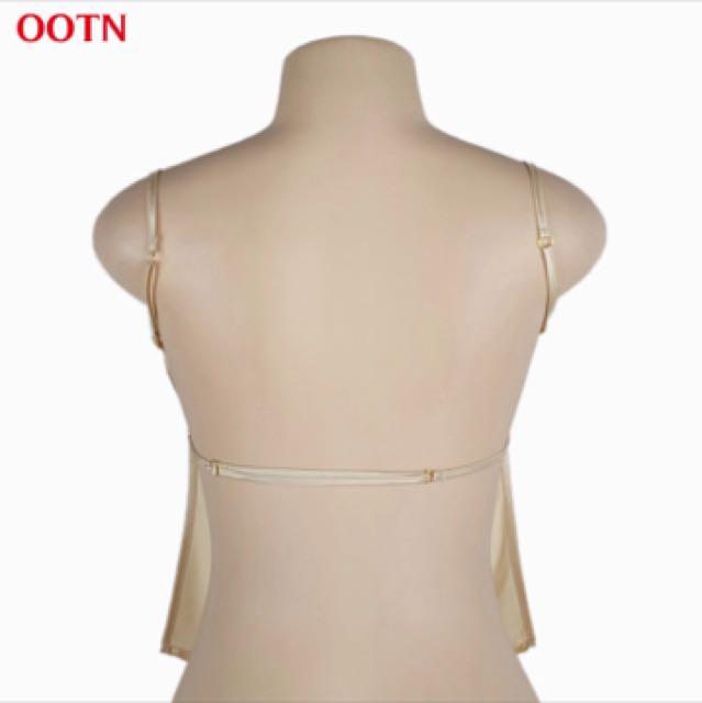 Silk backless top