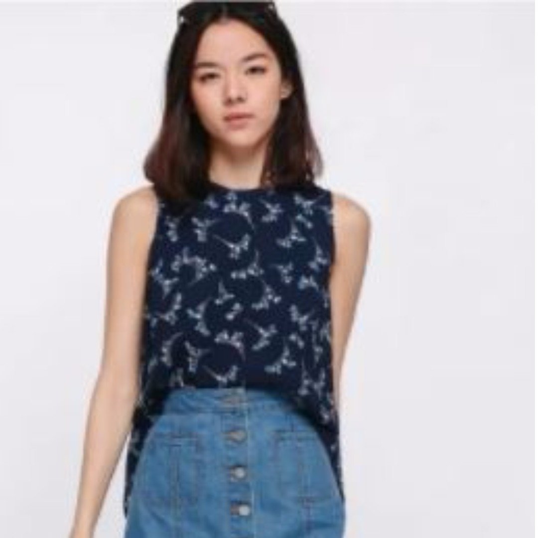 Tarieo Cascade Back Floral Top