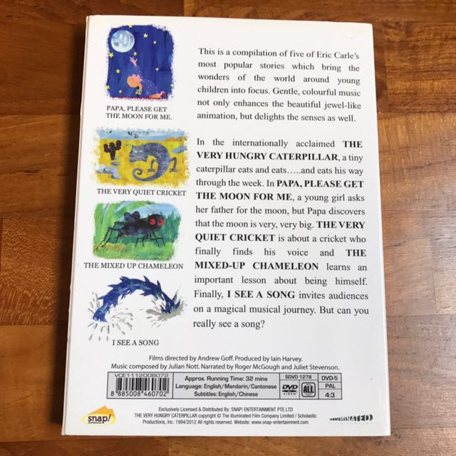 The Very Hungry Caterpillar by Eric Carle, Music & Media