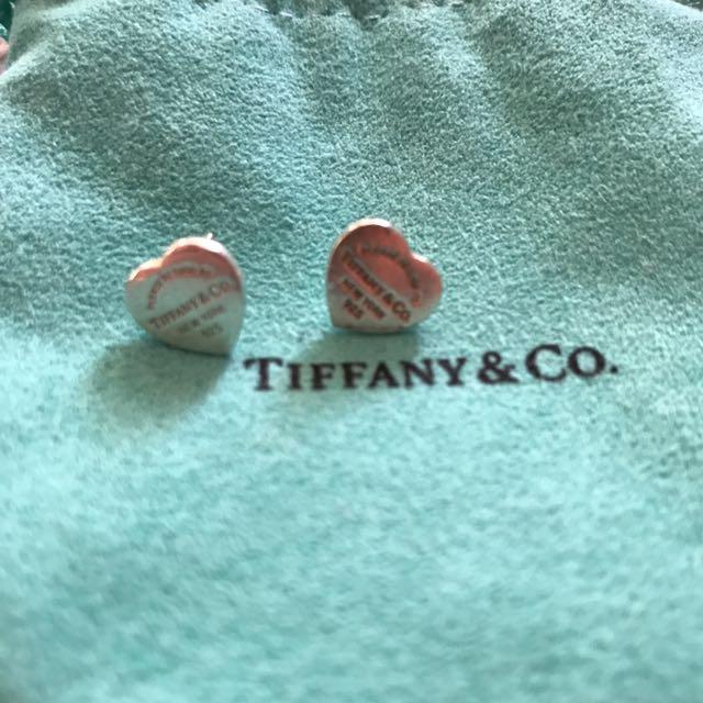 Tiffany & Co love heart earrings
