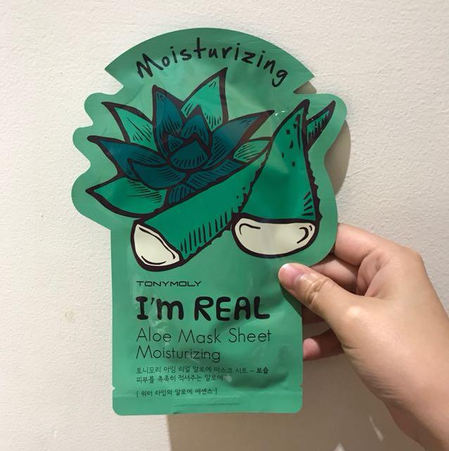 Tony Moly I'm Real Aloe Mask Sheet Moisturizing