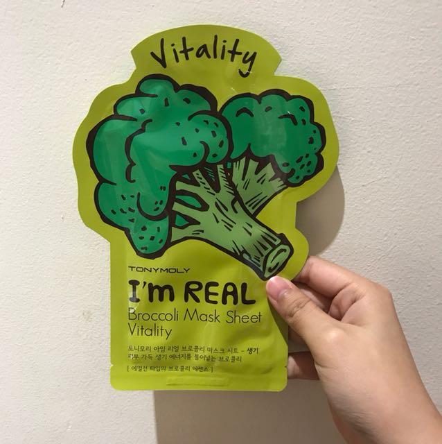 Tony Moly I'm Real Broccoli Mask Sheet Vitality