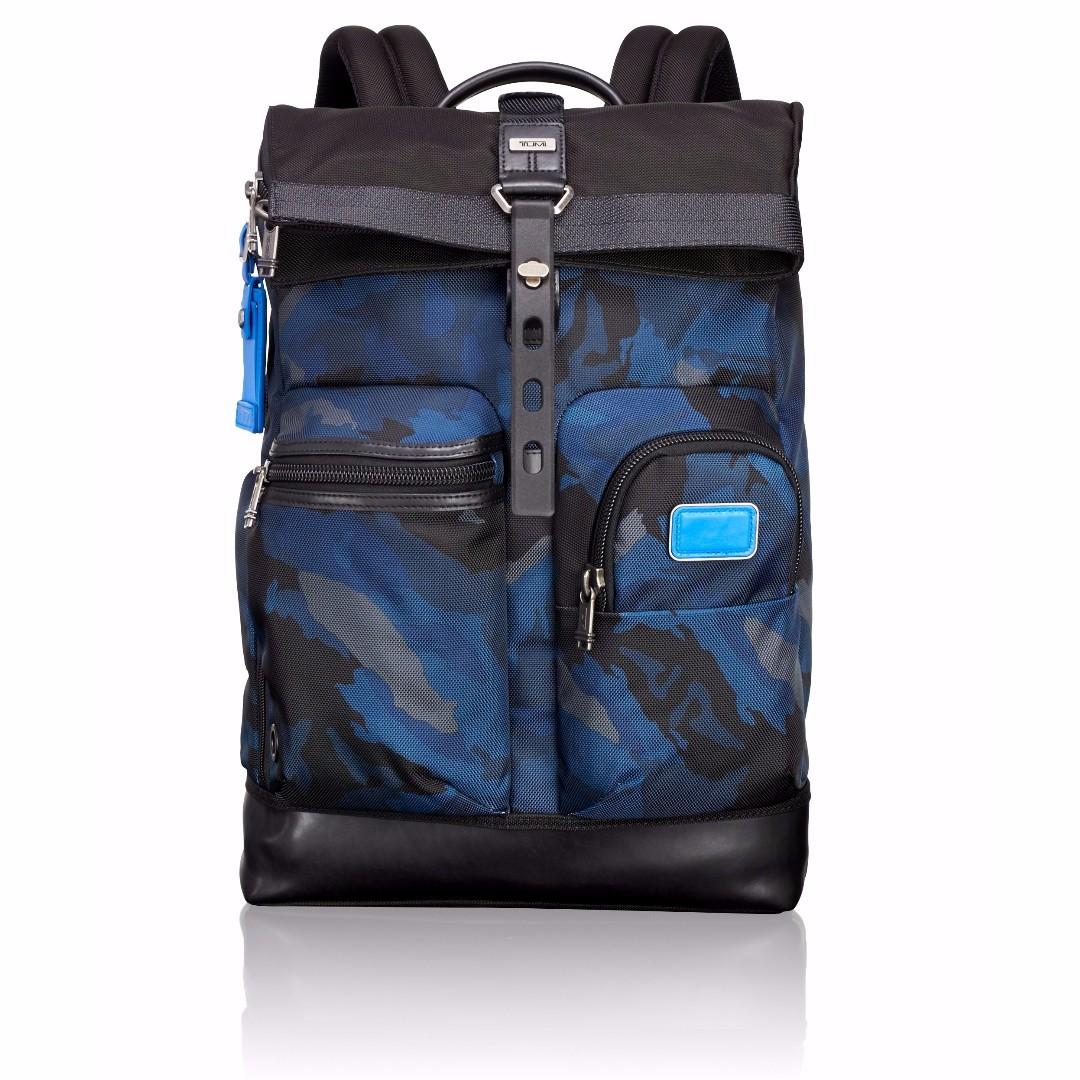 Cash Car Rentals >> Tumi 0222388BCM2 Alpha Bravo Luke Roll-Top Backpack Blue Camo *NEW*, Men's Fashion, Bags ...