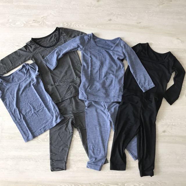 ae358a6b5d5f9 Uniqlo Heattech Top and Leggings, Babies & Kids, Babies Apparel on ...