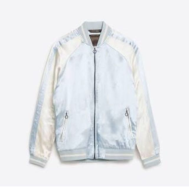 Unisex limited addition zara silk bomber jacket