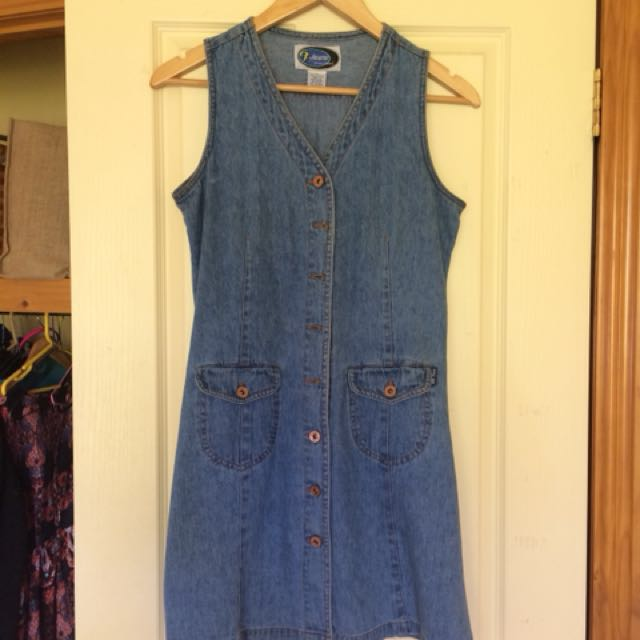 Vintage denim dress size small