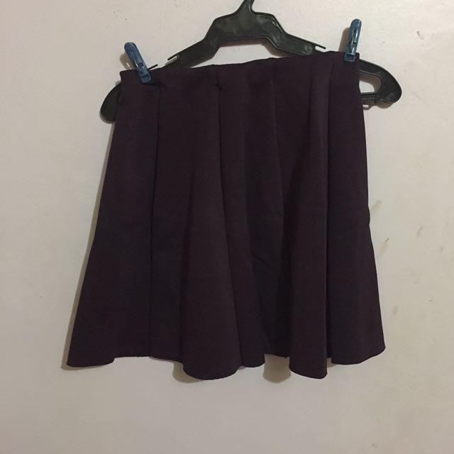 Violet skater skirt