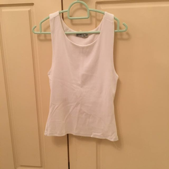 White peplum tank top