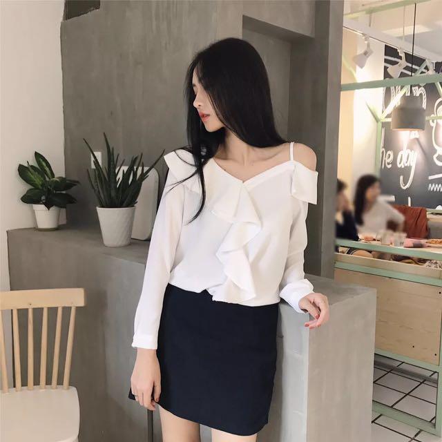 White stylish blouse