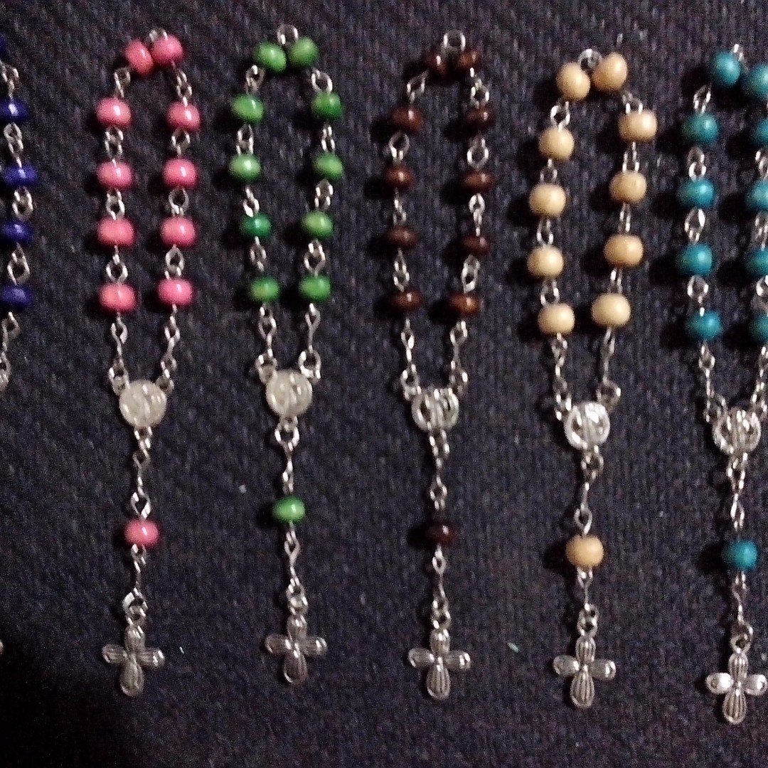 Wood Pocket Rosary Souvenirs Giveaways for wedding,baptismal,christening,birthday