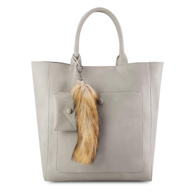 Zalora Fur Tail Weekday Tote Bag