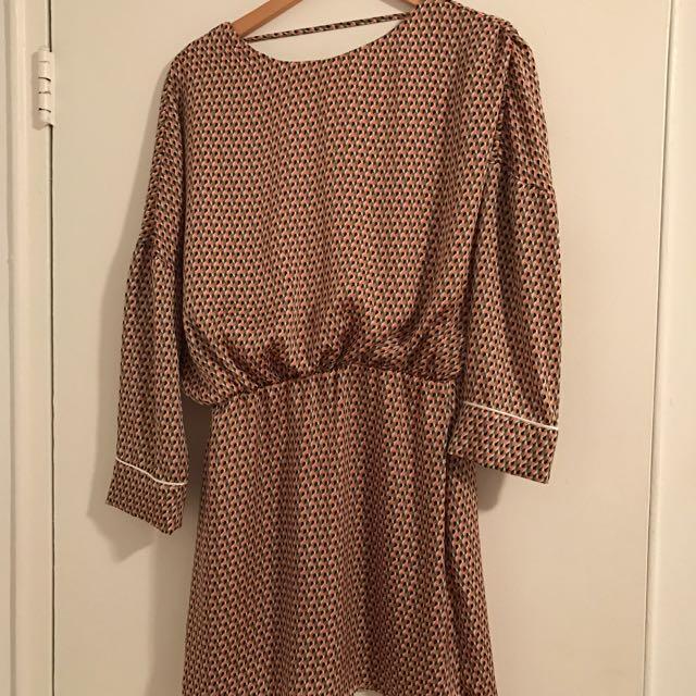 Zara multicoloured short tunic dress