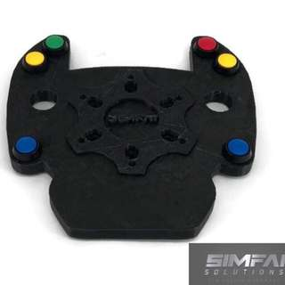 DIY Kit - Logitech G25 And G27 Porsche 911 Cup style button plate with 6 high quality buttons - Sparco, Momo, Omp, Nardi, Boss Kit, NRG, Thrustmaster, Logitech, Fanatec, BMW, Mitsubishi, Toyota, Nissan