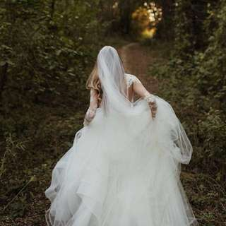 Magical French Silk Tulle Wedding Veil In 1 Cathedral