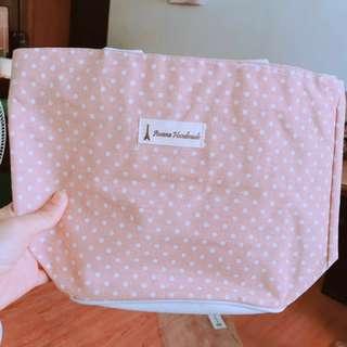 粉紅圓點手提包 可換物 #交換最划算