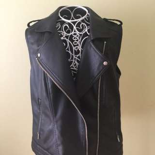 ONLY leather vest
