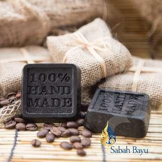 100% Handmade Soap: Tenom Coffee Scrub Soap for All Skin Types