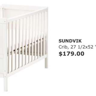 IKEA Crib and Crib Mattress