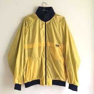 超可愛古著黃色防風運動外套