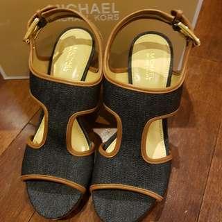 Brand New MK Wedge Sandals
