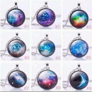 Galaxy necklace!!