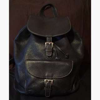 Black Danier leather backpack