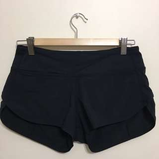 Black lululemon speed shorts