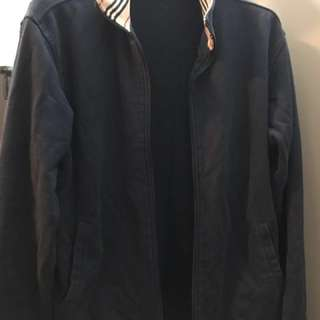 Burberry men's zipper sweater jacket.
