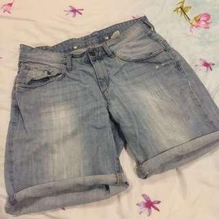 H&M Boyfriend Denim Shorts size 36