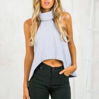 Sky Blue Turtle Neck Top *Marked Down*