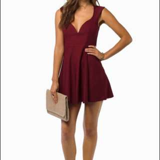 NWT Tobi burgundy skater dress (s)