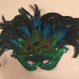 Peacock Mask & Fan