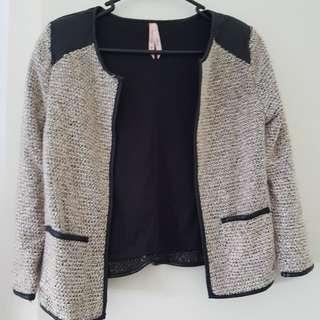 Ally Crop tweed cardigan - size 6