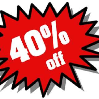 40% OFF ON EVERYTHING